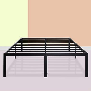 PrimaSleep 18 Inch Heavy Duty Steel Slat NON-SLIP Bed Frame,Queen