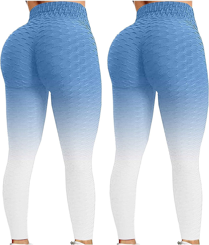 SASAS Women's 2 Pack 5 ☆ very popular High Waist Leggings Pan Printed Active Complete Free Shipping Yoga