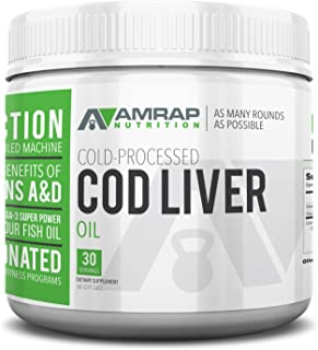 Sponsored Ad - AMRAP Nutrition Fermented Cod Liver Oil, 2,000mg, High Quality, WADA Compliant, Athlete Approved (60 Softgels)