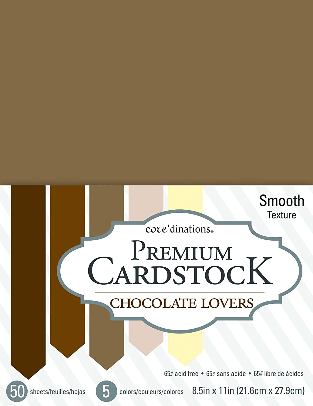 American Crafts Core'dinations 8.5 x 11 Inch Value Pack Chocolate Lovers 50 Sheets