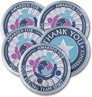 AttaCoin - 5 Coins - Employee Appreciation Gifts - Motivation Award (5 Pack, Teamwork)