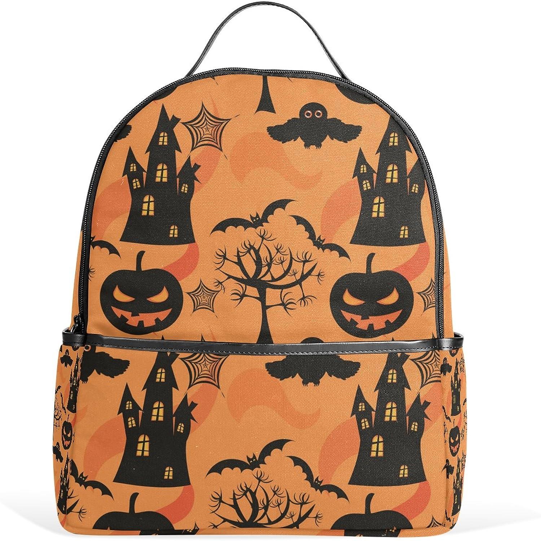 JSTEL Halloween School Backpack 2th 3th 4th Grade for Boys Teen Girls Kids