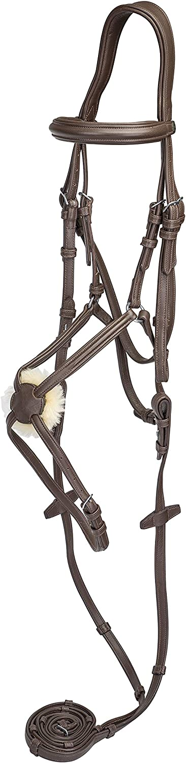 Henri de Rivel Kushy Plain Raised Figure Eight Noseband Bridle