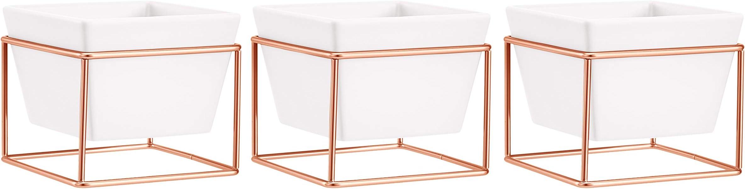 White//Copper Square Basics Tabletop Planter