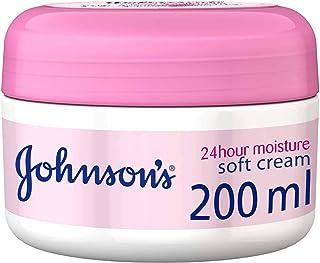 جونسون،كريم للجسم، ترطيب 24 ساعة، ناعم، عبوة 200 مل