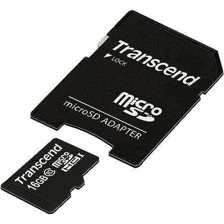 旧モデル Transcend microSDHCカード 16GB Class10 TS16GUSDHC10