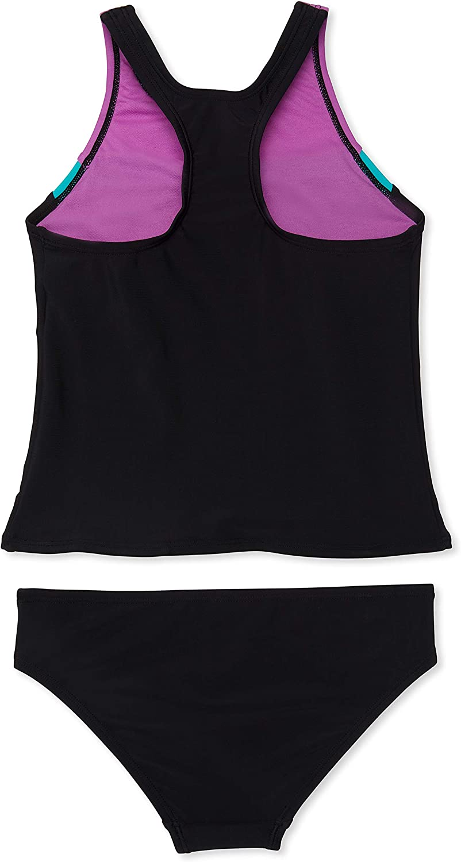 Speedo Girl's Swimsuit Two Piece Tankini Mesh Thick Strap