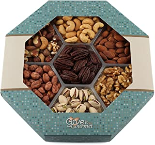 GIVE IT GOURMET, Large, Gift Baskets, Holiday Nuts Gift Basket Delightful Gourmet Food Gifts Prime Delivery Birthday Christmas Mothers & Fathers Day Fruit Nuts Gift Box Assortment Men Women Families