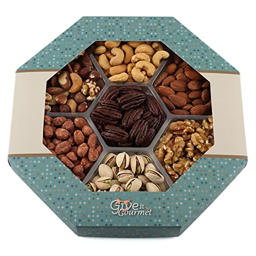 GIVE IT GOURMET Large Gift Baskets Holiday Nuts Basket Delightful Gourmet Food