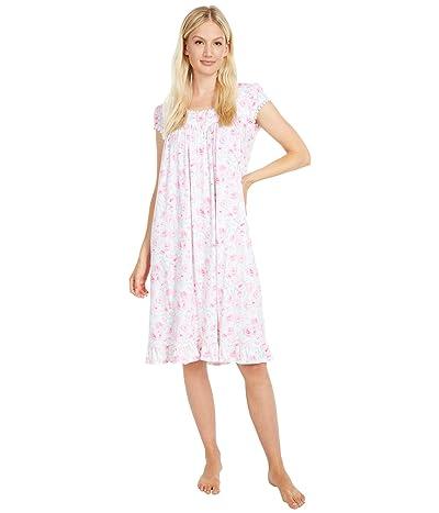 Eileen West Modal Cap Sleeve Waltz Nightgown (Pink Multi) Women