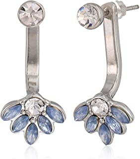 GUESS Women's Earrings Set with Stones, Silver, One Size