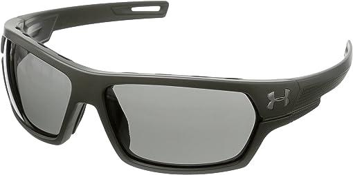 Ballistic Satin Rough Green/Black Frame/Gray Lens