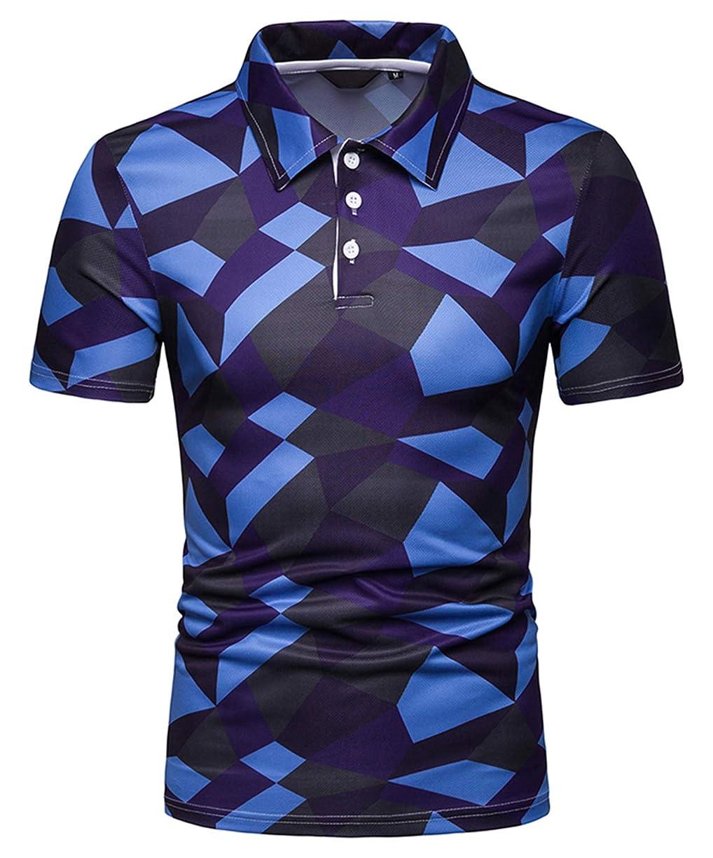 処理肩をすくめるアプライアンスWHATLEES メンズ 半袖 柄 ポロシャツ ビジネス ゴルフ スポーツ 吸汗速乾