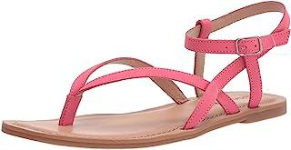 Lucky Brand Women's BYLEE Flat Sandal, Paradise PIN, 6.5