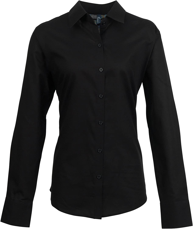 Premier Womens/Ladies Signature Oxford Long Sleeve Work Shirt