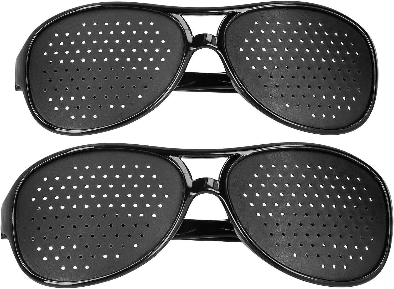 Keenso Gafas estenopeicas, Gafas de corrección de la visión, Gafas antimiopía para PC, Gafas para Mejorar la visión, antifatiga