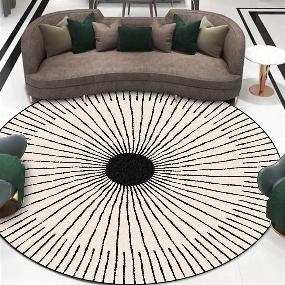 LBMTFFFFFF Carpet Rug Rugs Round an Room Black wholesale Popular products Living