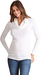 Women's Long Sleeve Cowl Neck Maternity Top