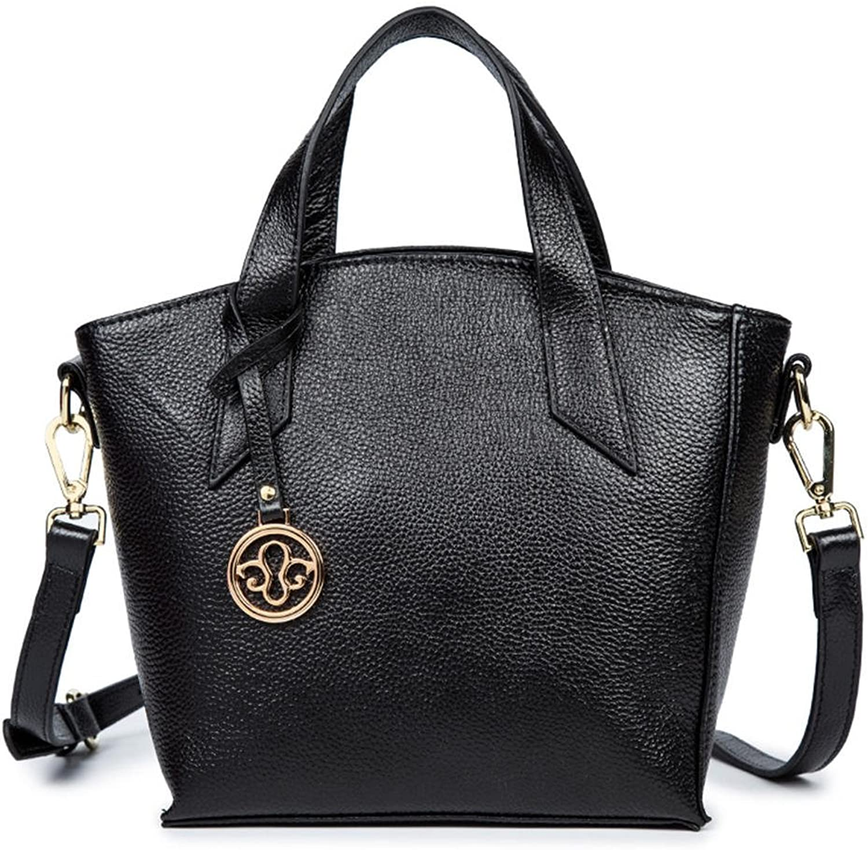 HMILY European and American Fashion Ladies Handbag Shoulder Bag Elegant Handbag H6877 Black