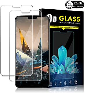 Oneplus 6 Screen Protector by YEYEBF, [2 Pack] Tempered Glass Screen Protector for Oneplus 6 [3D Touch][Anti-Glare][HD-Clear][Bubble-Free][Anti-Scratch]