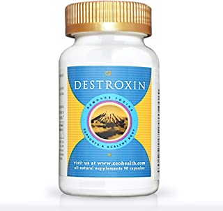 DESTROXIN | Zeolite Capsules with B-12 and Calcium (90 Count) | Naturally Supports Cellular Detox, Optimal Energy, & Upset Stomach Relief | Body Alkalinity & pH Increaser