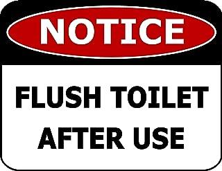 Top Shelf Novelties Notice Flush Toilet After Use Laminated Bathroom Sign SP2265