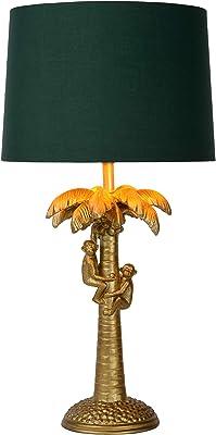 LUCIDE EXTRAVAGANZA COCONUT - Lampe de table - Ø 30,5 cm - 1xE27 Or Mat/Laiton/Vert