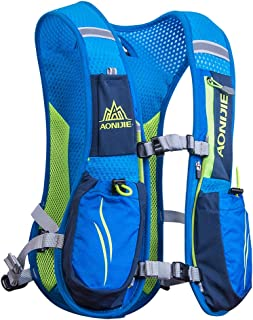 AONIJIE Running Hydration Vest Backpack for Women and Men Lightweight Trail Running Backpack 5.5L Blue