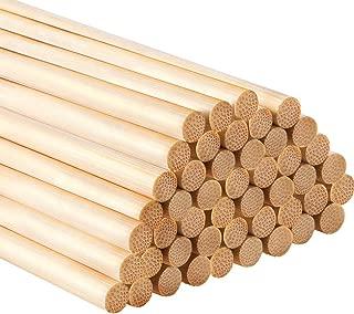 Bag of 100 Wooden Dowel Rods 3//16 x 12