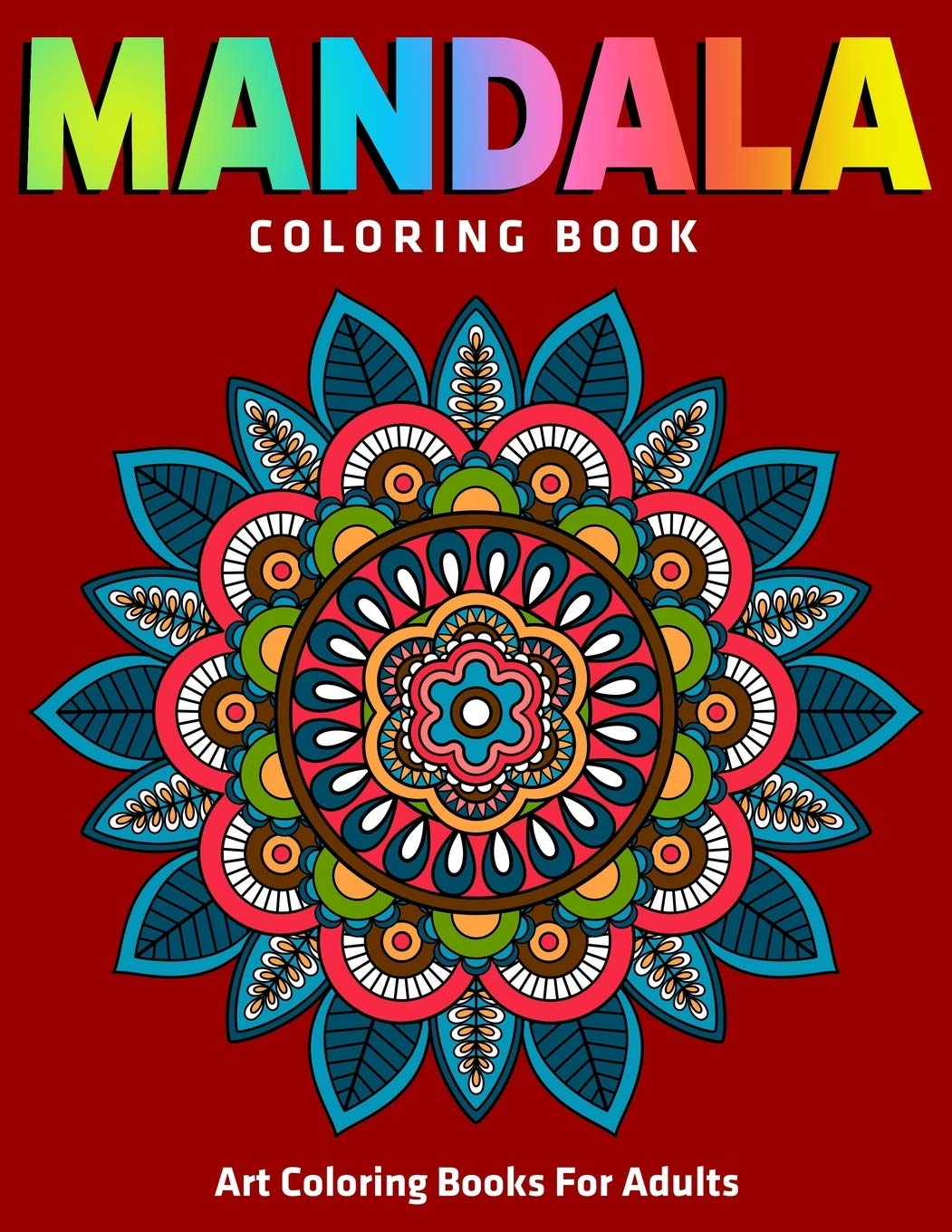 Image OfMandala Coloring Book : Art Coloring Books For Adults: 50 Unique Stress Relieving Mandala Designs For Adult Relaxation, Me...