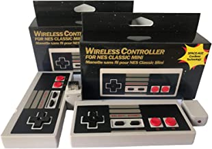 2 Pack NES Classic Mini Wireless Controller,TANKEY 2019 New Version 2pcs Wireless NES Controllers No-Wired Gamepad Joypad with Receiver for NES Classic Gaming System Console