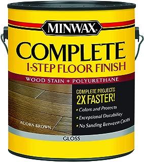 Minwax 672020000 Series 67202 1G Gloss Acorn Brown Complete 1-Step Floor Finish, 1 Gallon