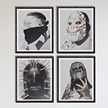 Mask of Heavy Metal of Rock Music Band Corey Craig Jay Alessandro Original Canvas Art Print,8 x 10 Inches,Set of 4,No Frame