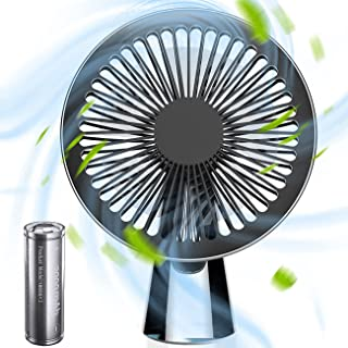 Wind Talk Portable Desk Fan, Battery Operated Personal Small Mini USB Fan, Handheld Table Electric Fan for Home Office Travel, 2000 mAh Rechargeable Battery, 3 Speed Setting, Adjustable Tilt Angle