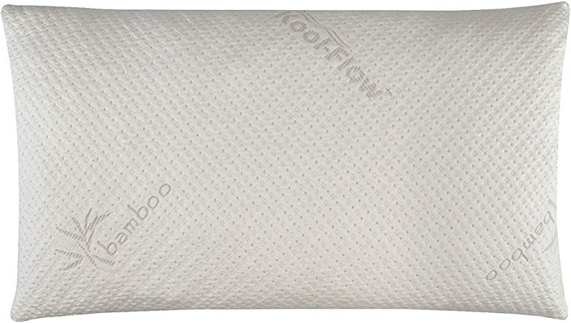 Snuggle Pedic Ultra Luxury Bamboo Shredded Memory Foam Pillow Combination With Adjustable Fit And Zipper Removable Kool Flow Breathable Cooling Hypoallergenic Pillow Cover King