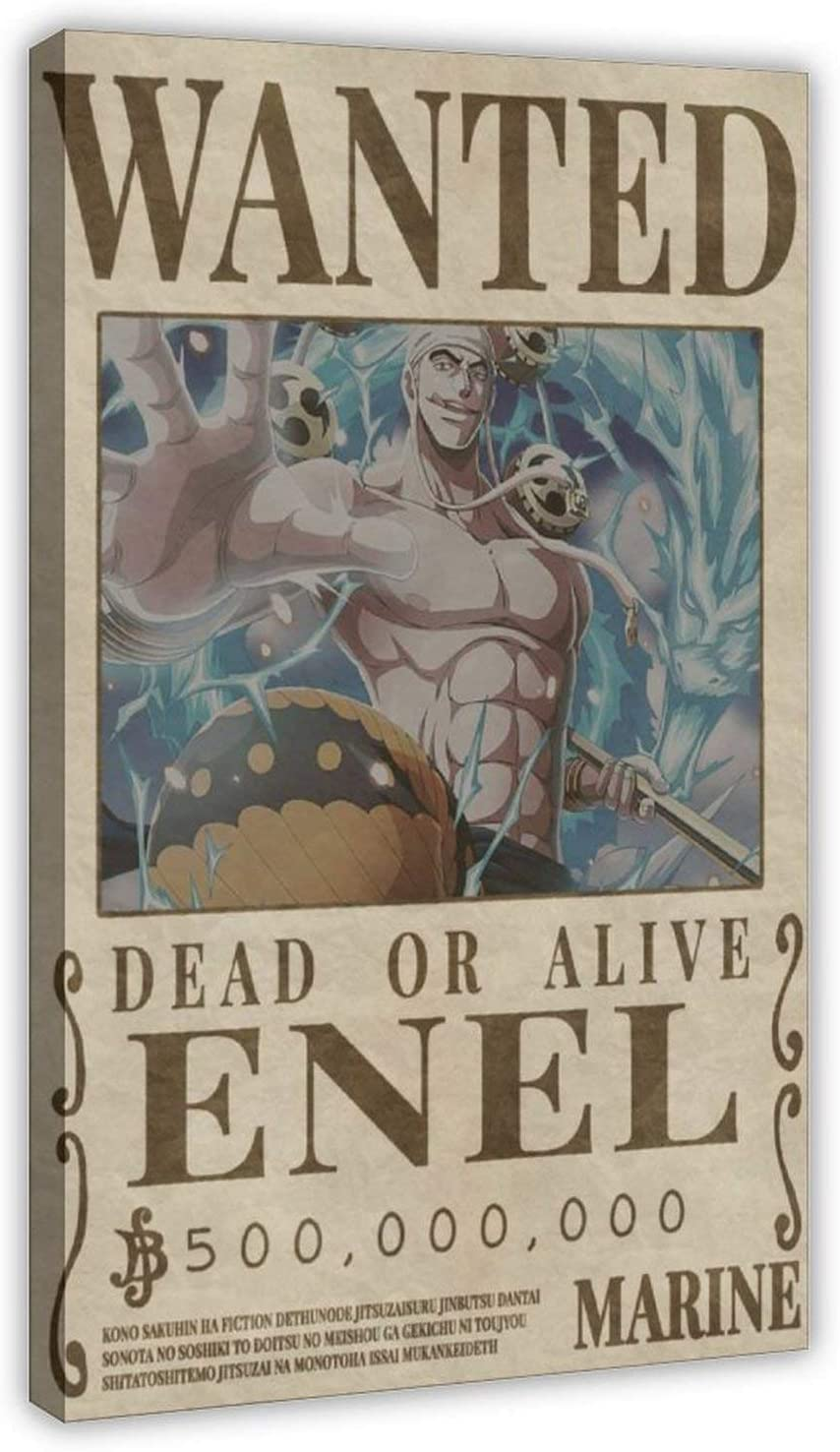 Anime One Piece ENEL Wanted Posters Miami Mall Aesthe Great interest Interior Poster