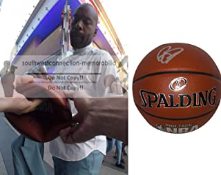 Baron Davis Golden State Warriors Autographed Hand Signed NBA Spalding Basketball with Exact Proof Photo of Signing, Charlotte Hornets, Los Angeles Clippers, New York Knicks, UCLA Bruins, COA