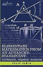 Best klein elementary mathematics from an advanced standpoint Reviews