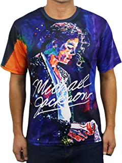 Michael Jackson Art Oil Painting Shirt 3D Print Unisex Short Sleeve T-Shirt