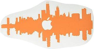 ملصق The Decal Guru 2327-MAC-12M-P Chicago City Skyline من الفينيل، مقاس 12 بوصة MacBook، برتقالي
