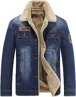 Saoye Fashion Giacca di Jeans da Uomo in Denim con Cappotto in Giovane Abiti da Festa Pelliccia Giacca Invernale Giacca In...