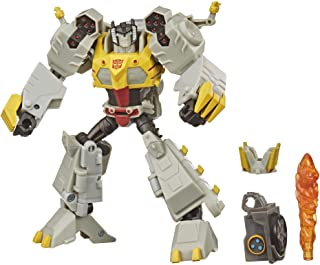 Transformers Bumblebee Cyberverse Adventures Deluxe Class Grimlock Action Figure Toy, Build-A-Figure Part, for Ages 6 and Up, 5-inch