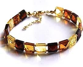 gold amber bracelet