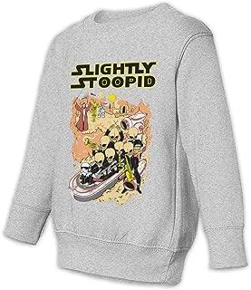 GayleanQ5 Slightly Stoopid Toddler Juvenile Unisex Sweatshirt Fun Long Sleeve Graphics Printing Shirt Black