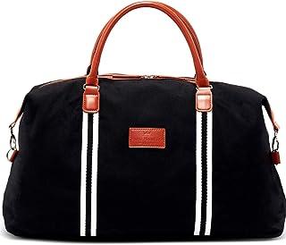 Saint Manier®, borsa da viaggio di design, con scomparto extra per computer portatile, materiale ecologico, diverse tasche...