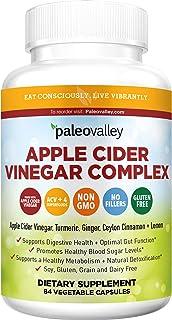 Paleovalley: Apple Cider Vinegar Complex - Nutritional Supplement with Turmeric, Ginger, Ceylon Cinnamon and Lemon - 84 Ca...