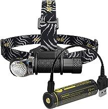 JSJJAUJ Koplamp 1800 Lumen Koplamp HC33 + 18650 USB Opladen Poort Batterij Waterdicht Hoofd Licht Outdoor Camping Jacht Zo...