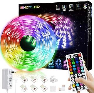 SHOPLED Led Strip Lights 16.4 ft 5m Flexible Color Changing Led Strip Lights for Bedroom, 5050 RGB Led Tape Lights with RF...