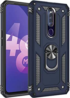 Soosos Case for Oppo F17 Pro Case Hybrid Heavy Duty Military Grade Built-in Metal Rotating Ring Kickstand Cell phone Prote...