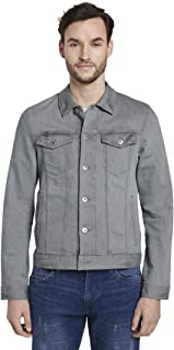 TOM TAILOR Men's Trucker Denim Jacket, 10281-Mid Stone Wash, M